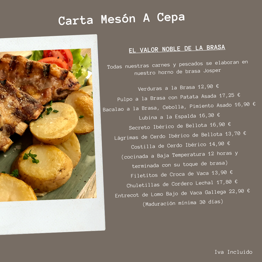 CARTA DE VINOS MESON A CEPA